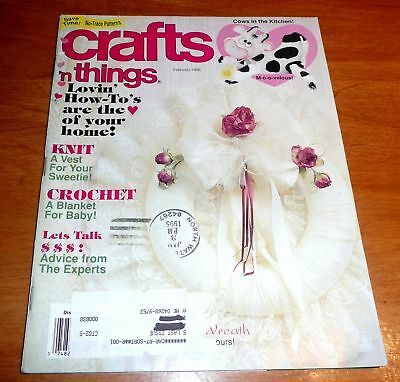 Crafts n Things Magazine Feb 1995 patterns Knit Crochet Romantic projects