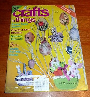 Crafts n Things Magazine Apr 1993 Sock bunnies Bible Cover Air Freshener Dolls
