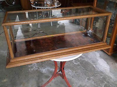 ANTIQUE COUNTER TOP DISPLAY CASE OAK GREAT CONDITION
