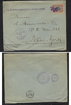 Guatemala  nice cover to US   1904                          MS1226