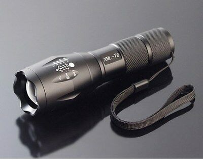 CREE XM-L T6 LED 1800Lm 10W Zoomable Zoom Torch Flashlight 5 Modes Light Lamp A6