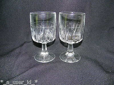 Libbey Winchester Duratuff Footed Pedestal Wine Glasses 6.5 oz 15463 - Qty 2