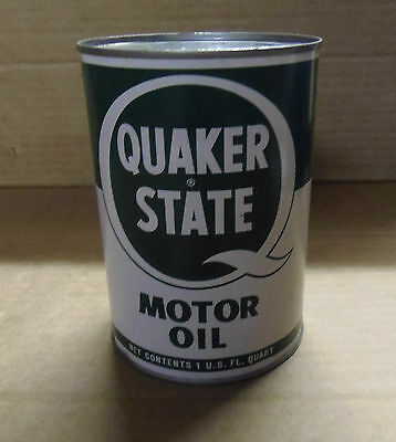Empty one quart Quaker State all metal oil can 20-20w in great condition