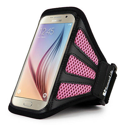 Black/Pink Mesh Workout Sports Gym Running Case Armband for Samsung Galaxy S9 S8