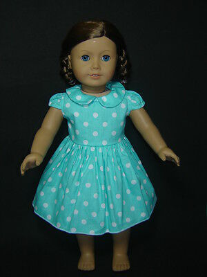 Clothes fits for 18'' American Girl Dolls Green Dot Summer Dress AG470