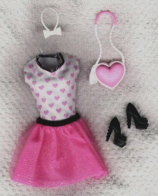 Life in the Dreamhouse Barbie  Skirt Set shoes - purse - Genuine Mattel Items