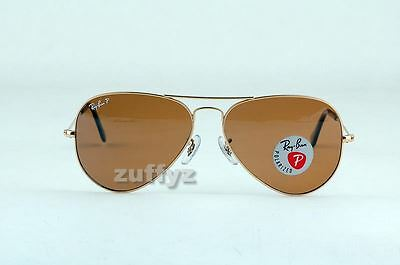 Ray Ban Aviator 3025 001/57 RB3025 Brown Polarized RB 3025 58MM