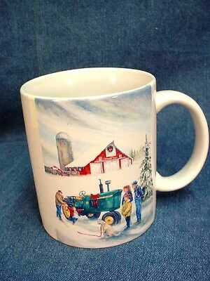 JOHN DEERE 4010 TRACTOR MUG - HOLIDAY GIFTS SO DEERE by R.L. CROUSE - NEVER USED