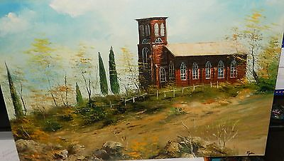 Ryan Old Wooden Barn Large Oil On Canvas Landscape Painting