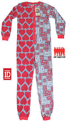 Girls All Inn One Jumpsuit Pyjamas One Direction 1D 6-16 Years