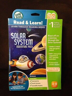leapfrog tag solar system adventure pack teaches astronomy, earth science 4-8yrs