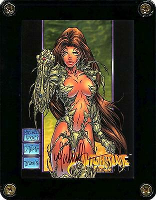 Witchblade 1996 Promotional Card Signed By Artist Michael Turner