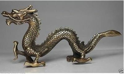 Sell one like this CHINESE HANDWORK DRAGON OLD COPPER STATUE