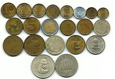 Peru Collection Of 21 Coins