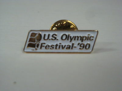 """1990 U.S. Olympic Festival Pin - Twin Cities -White Background - 1.125"""" x .3125"""""""