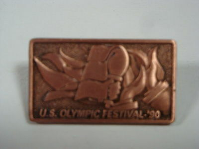 """1990 U.S. Olympic Festival Twin Cities -  Pin - Copper Color - 1.125"""" x .625"""""""