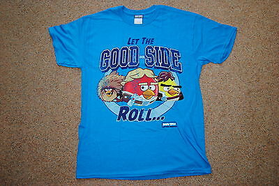 Angry Birds Star Wars Let The Good Side Roll T Shirt New Official Video Gaming