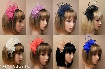 Pack Of 2 Large Stylish Fascinator, Wedding, Races, Ascot, Occasions, Alice Band