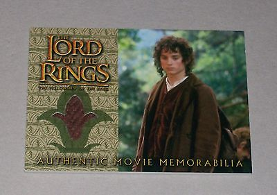 COSTUME CARD: Lord of the Rings Fellowship of the Rings Frodo's Travel Jacket