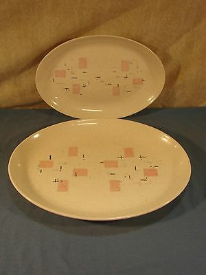 Vernon Ware Tickled Pink Platters