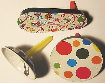 Vintage Tin Litho Noisemakers Lot of 3 Vintage Midcentury 1960s New Years Eve