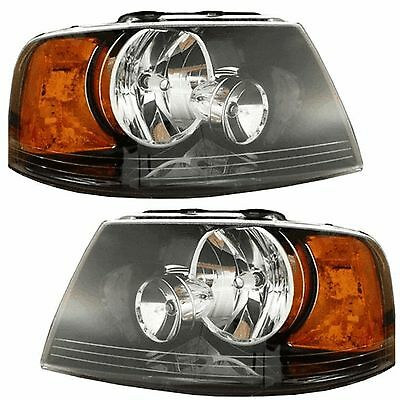FOURWINDS HURRICANE 2010 2011 2012 BLACK HEADLIGHTS HEAD LAMPS FRONT LIGHTS RV