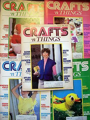 5 CRAFTS 'N THINGS MAGAZINES 1980-82 VINTAGE MAGAZINES