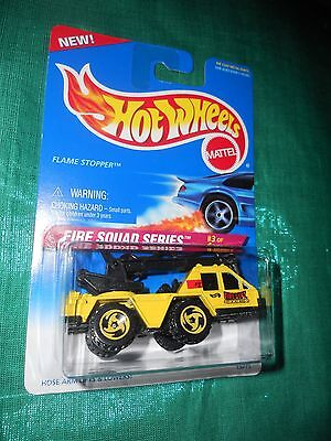 NEW 1995 Hot Wheels Fire Squad Series *FLAME STOPPER* Hook arm lifts #3 of 4