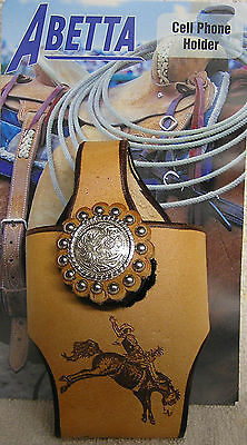 Reduced to sell --BAREBACK BRONC-WESTERN LEATHER REGULAR CELLPHONE HOLDER