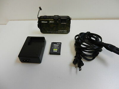 Nikon COOLPIX AW100 16.0 MP Digital Camera - Camouflage *No Reserve*