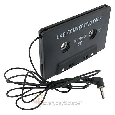 BLACK CAR CASSETTE TAPE ADAPTER FOR Apple iPod NANO TOUCH MD CD MP3 PLAYER PDA
