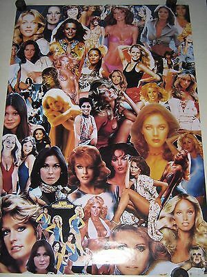 """1970's TV shows """"Gals"""" collage / Orig. Poster """"1999"""" / VG new cond. / 22x32"""