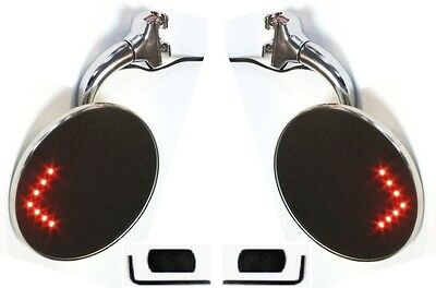 "LED Peep Mirrors 4"" Clamps to Door Edge Rearview Exterior Universal  Ford"