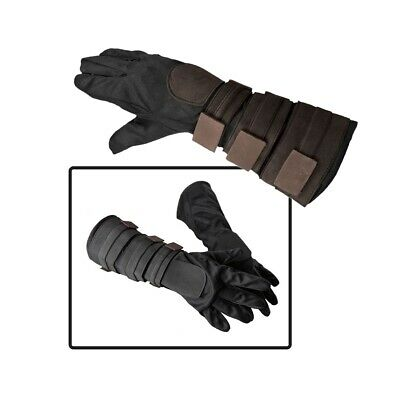 Anakin Skywalker Costume Gloves Kids Boys Star Wars Jedi Halloween Fancy Dress