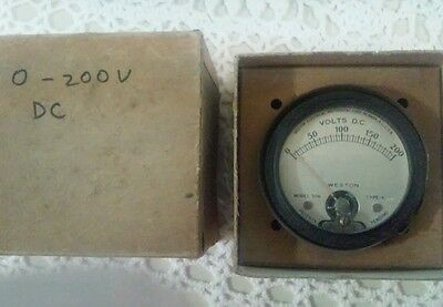 Vintage Weston Model 506 DC Voltmeter Type - A