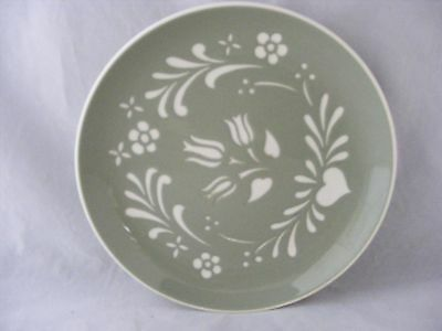 """1 Harkerware Sage Green 7.25"""" Salad Dish.  Very good Condition No Chips or Crack"""