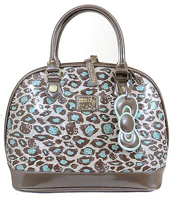 Hello Kitty Large Dome Mint Leopard Embossed Handbag by Loungefly