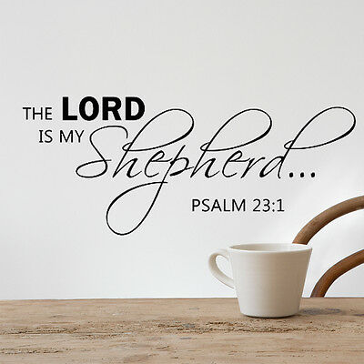 Bible Verse Wall Decal the Lord Quotes Psalm Family Home Vinyl Removable Decor