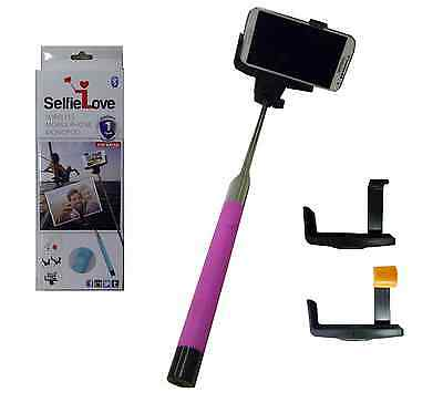 NEW SelfieLove® Wireless Smartphone Monopod Bluetooth Camera Selfie Stick PINK