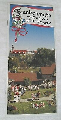 Frankenmuth Brochure, Map, Dining and Attractions Guide, Illustrated 1990's