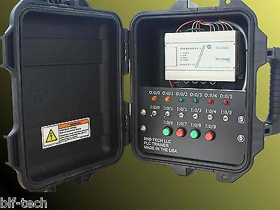 New Allen Bradley MicroLogix1000 PLC Trainer with 1761-L16BWA PLC & HMI Training