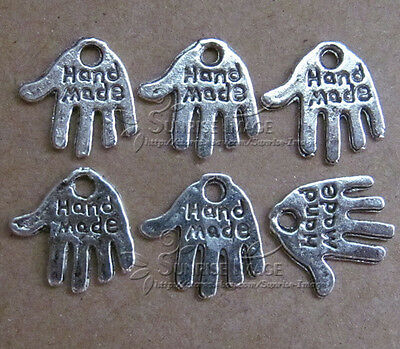 PJ086/30pc Tibetan Silver Dangle Charms Star Beads Accessories Jewelry Findings