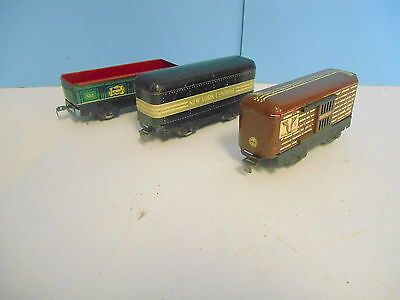 MARX 027 552 GONDOAL NYC TENDER 59 STOCK CAR.. 3 PC FREIGHT CAR LOT