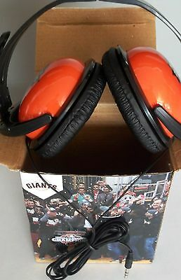 SF San Francisco GIANTS 2012 World Champs HEADPHONES NEW - free shipping