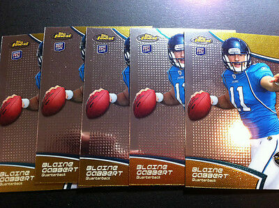 Lot of 5 Blaine Gabbert 2011 Finest RC Rookie #100 Jacksonville Missouri