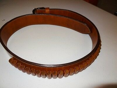 Bianchi #B7 Western Leather Ammo Belt Size 40 with 44/45 caliber loops