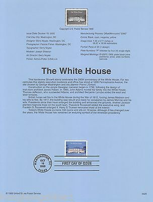 USA Stamp FDC 2000 The White House US138681