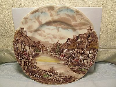 "Vintage 10"" Johnson Brothers England ""Olde English Countryside"" collector plate."