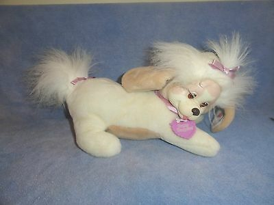 PUPPY SURPRISE MOM ONLY COLLAR PLUSH HASBRO 1991 TAN AND WHITE
