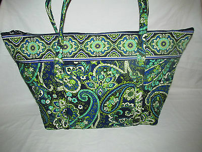 NEW WITH TAGS VERA BRADLEY RHYTHM AND BLUES MILLER BAG HUGE PRETTY